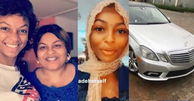 Adeherself's mother called out for pricing a Benz while her daughter is in EFCC custody