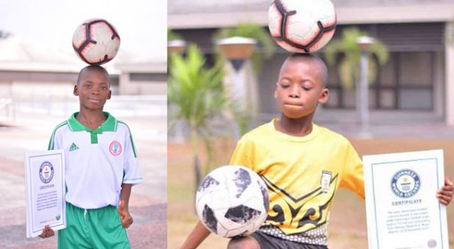Meet Chinonso Eche, 11-year-old Nigerian footballer who set Guinness World Record