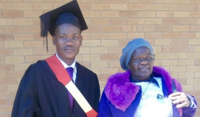 Man appreciates his grandmother for single-handedly raising him as he bags law degree