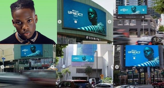 Rema graces billboards across Atlanta, Los Angeles, Miami and New York