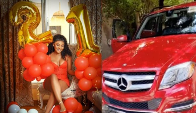 Ex-beauty queen, Ruby Uche gifts herself a Benz on her 21st birthday (Photos)