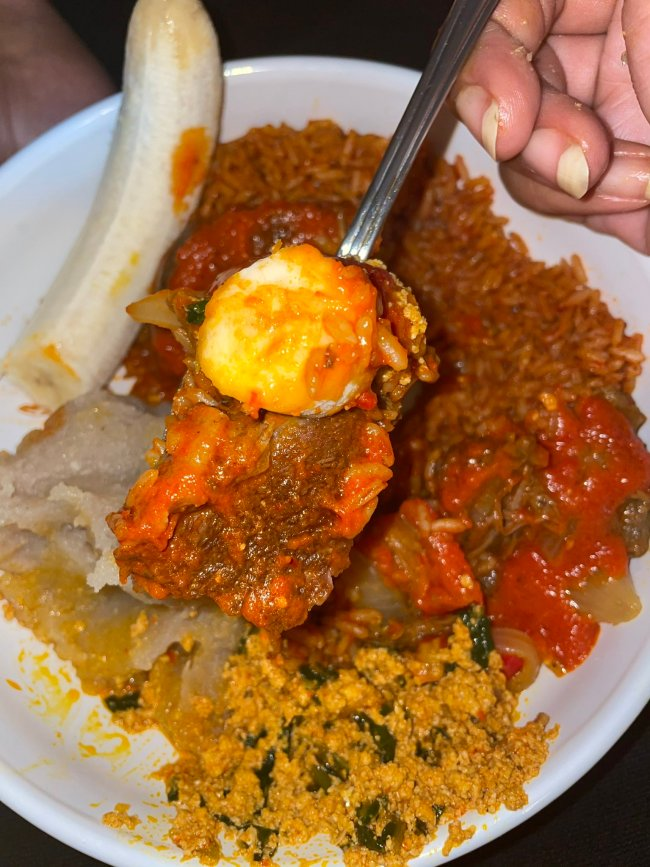 Social media users in sh0ck as lady shows off the food she prepared