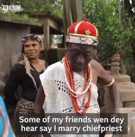 Prayer warrior who dumped Christianity to marry a native doctor celebrates her new life (Video)