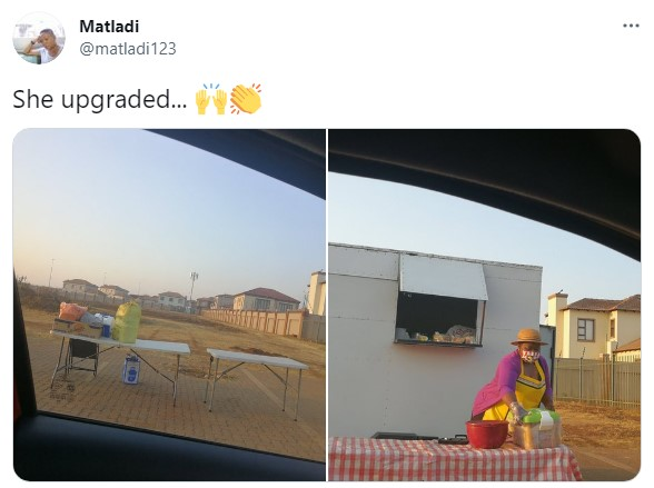 Social media users celebrate street hawker as she upgrades to owning a stall