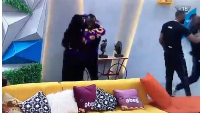 BBNaija: Housemates leap for joy as Pere and Angel return to the house (Video)