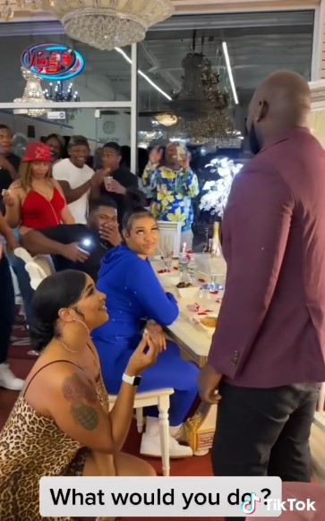 VIDEO: Man walks away with another lady after his girlfriend proposed to him