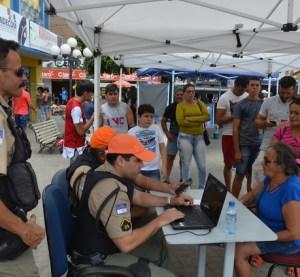 Polícia Militar inicia cadastramento de celulares no Centro de Surubim