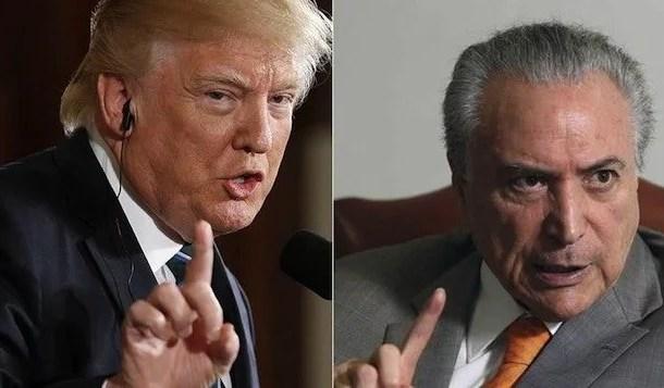 Donald Trump mostra interesse em receber visita de Temer aos EUA