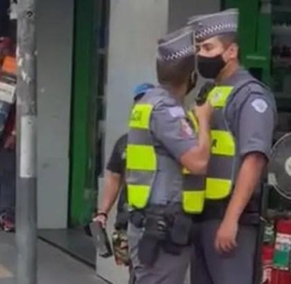 Políciais discussão - SP - Arma