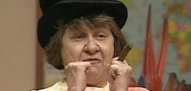 Zilda Cardoso interpretou a Dona Catifunda de Escolinha do Professor Raimundo