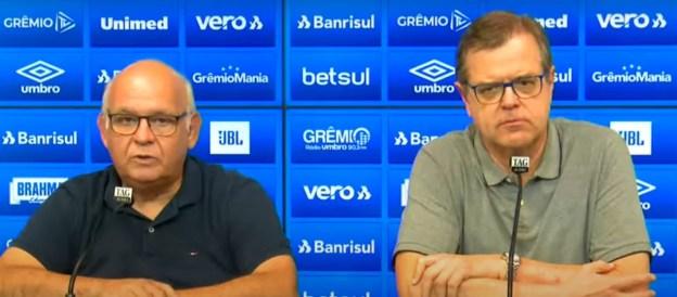 Presidente Romildo Bolzan participou do anúncio do novo vice de Futebol
