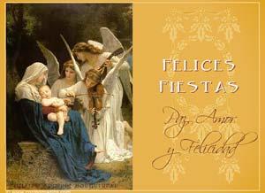 Tarjeta De Navidad Paz Amor Y Felicidad FELICES FIESTAS