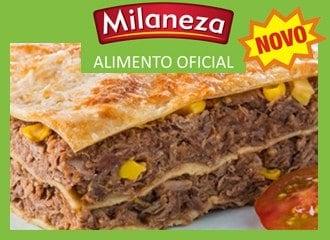 Lasanha integral de carne desfiada Milaneza