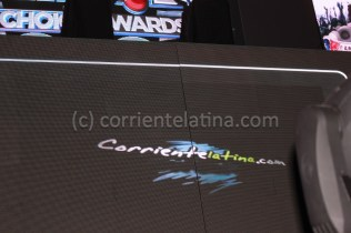 CorrienteLatina.com Nomination on the big screen