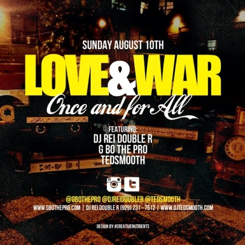 Love And War mixtape review (DJ Ted Smooth, GBo The Pro, DJ Rei Double R)