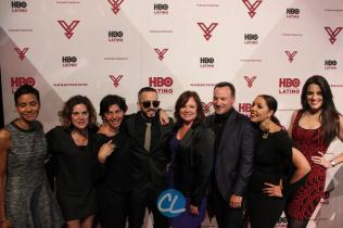 HBO Latino multicultural marketing VP Jackie Gagne, HBO Latino film programming VP Leslie Cohen, HBO Latino film programming senior VP Doris Casap, HBO Latino director of business affairs Rebecca Vazquez, Ruben Leyva of Sony Music U.S. Latin, HBO Latino multicultural marketing SVP Lucinda Martinez, and Sony Entertainment Business Development Manager Melissa Exposito