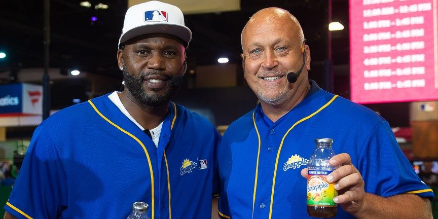 """Cliff Floyd Crowned """"Flip for Flavor"""" Champion In First-Ever Snapple All-Star Bottle Flip Challenge"""