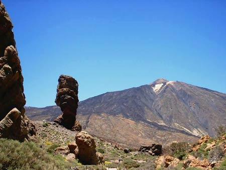 Il Pico de Teide, vulcano dell'isola di Tenerife, nelle Canarie