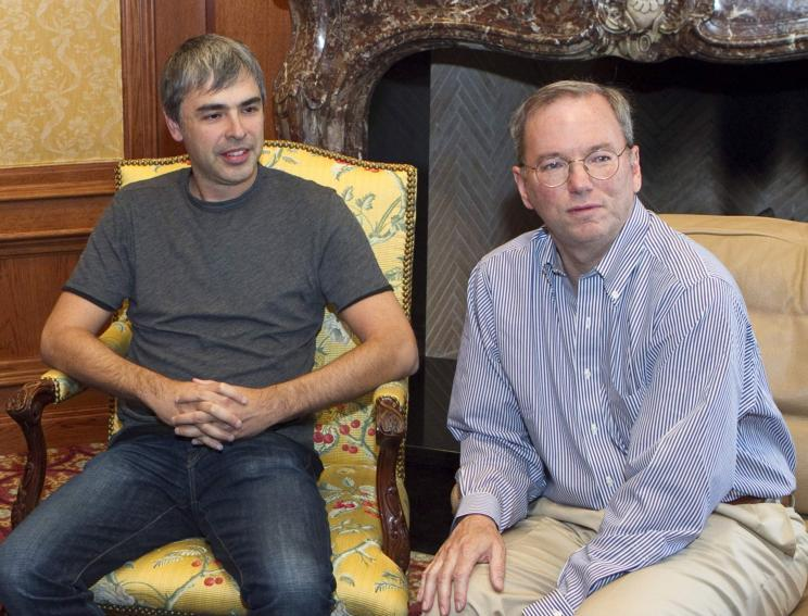 Larry Page (a sinistra) ed Eric Schmidt
