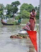 Le alluvioni in Bangladesh (Ap)