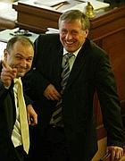 Mirek Topolánek e  il ministro dell'Interno, Ivan Langer