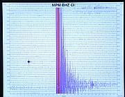 Il grafico di un sismografo (Ap)