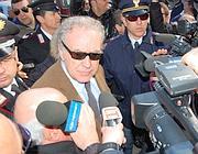 Michele Santoro a Trani (Ansa)