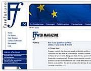 La home page del sito di FareFuturo