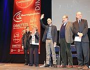 Saviano, Eco e Zagrelbesky al PalaSharp (Nicola Vaglia)