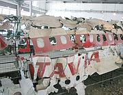 I relitti del Dc9 Itavia esploso la sera del 27 giugno 1980
