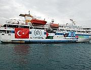 Una delle navi della Freedo Flotilla (Afp)