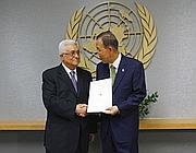 Abu Mazen con Ban Ki -Moon (Reuters)