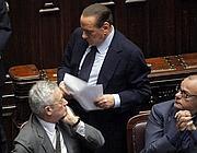 Berlusconi e Tremonti in Aula (Lapresse)