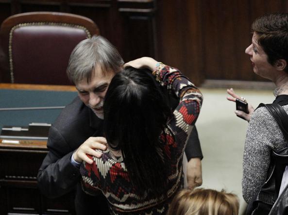 Il sottosegretario alla presidenza del Consiglio Graziano Delrio  alla Camera durante il voto sul ddl Città Metropolitane e Provincie (Ansa)