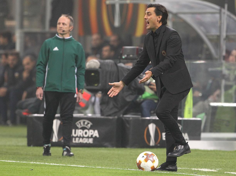 La panchina di Vincenzo Montella al Milan è in bilico, già si vociferano sostituti. Foto: Getty Images.