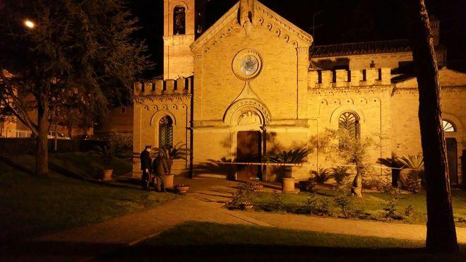 artefacto explosivo contra el daño de la iglesia Don Vinicio y el miedo en la noche