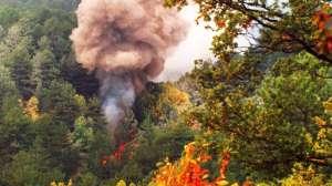 Un incendio boschivo (repertorio)