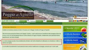 il sito di Poggio all'Agnello nel 2012