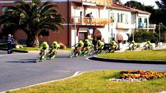 La crono a squadre 2012 a San Vincenzo