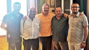 Gli organizzatori con il sindaco Biagi