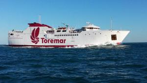 La nave Rio Marina Bella di Toremar