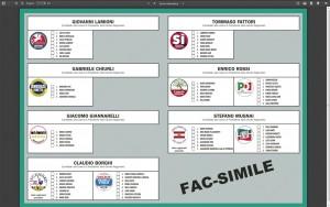 la scheda elettorale per la provincia di Livorno (premere sull'immagine per ingrandire)