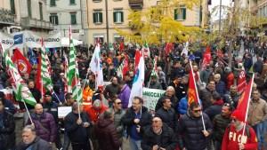 un momento dello sciopero del 2 dicembre 2015