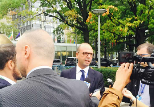 Il ministro dell'Interno, Angelino Alfano, a New York
