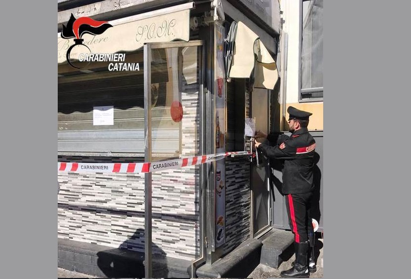 """Catania, chiuso dai Carabinieri per 15 giorni il """"chiosco dei pregiudicati"""": è a S. Cristoforo"""