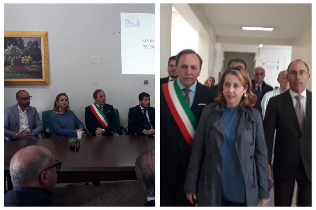 """Paternò, per il ministro Grillo 'buoni indici' negli ospedali della provincia: """"Sulle liste d'attesa c'è da lavorare"""""""