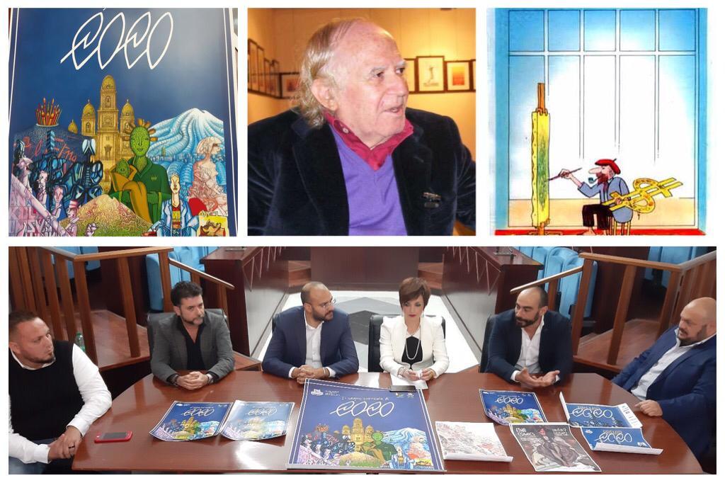 """Biancavilla, a Etna Comics il Premio al disegnatore Giuseppe Coco: la """"manina"""" dell'artista famoso nel mondo"""