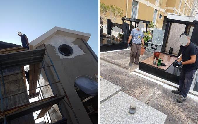 Catania, controlli di Polizia in area cimiteriale del quartiere Zia Lisa: nei cantieri violate norme di sicurezza