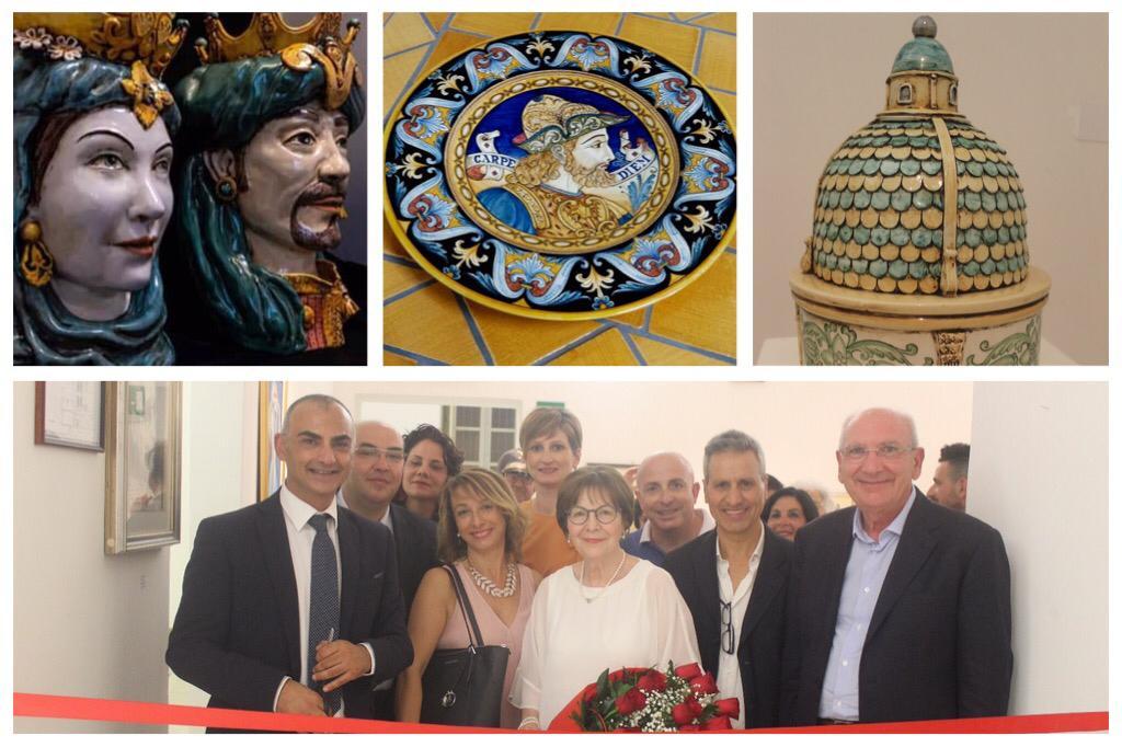 Bronte, successo della mostra 'Concreta': arte ceramica nei lavori di Russo e Vignera