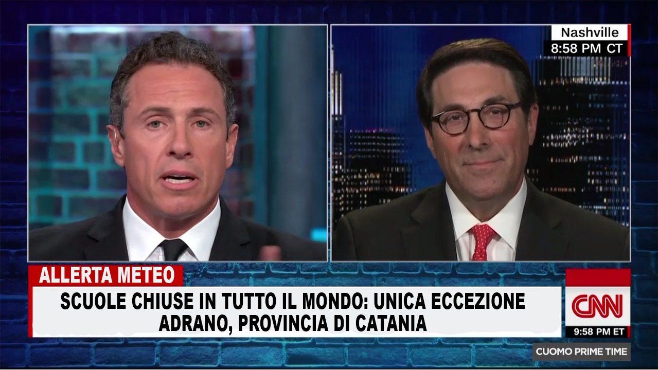Adrano, falso titolo nel Tg della CNN per la mancata chiusura delle scuole: l'ironia corre sulla rete - Corriere Etneo